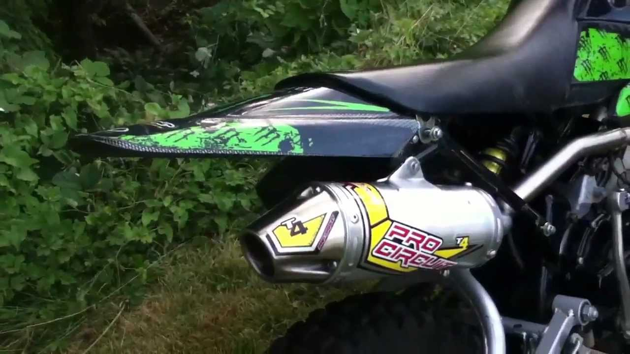 Klx 110 stock vs  Pro Circuit T4 exhaust