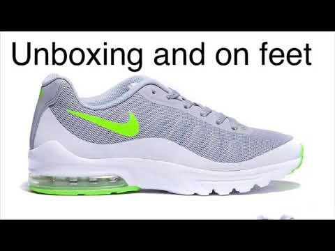 nike-air-max-invigor-grey-green-unbox-and-on-feet