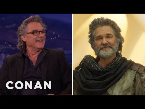 "Kurt Russell's Majestic ""Guardians of the Galaxy Vol. 2"" Hair  - CONAN on TBS"