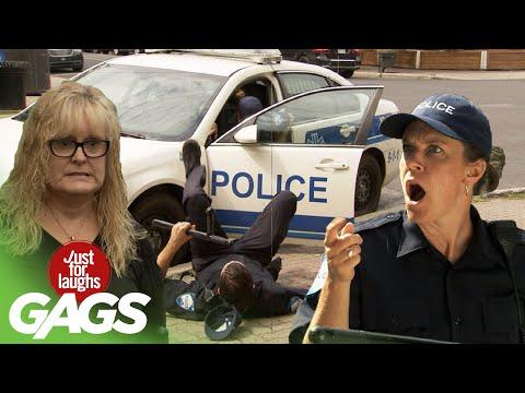 Cop Gets hit in the Head by a Car Door... TWICE