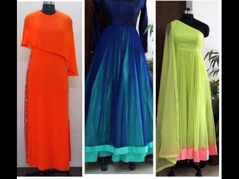 latest floor length dress models