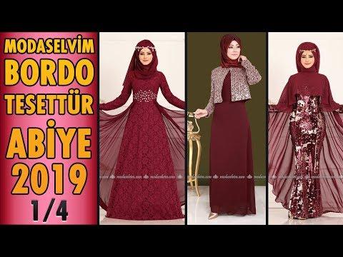 82ffe99a4c2f8 #Modaselvim #Bordo #Tesettür Abiye #Elbise Modelleri 2019 - 1/4 | #Hijab  Evening Dress | claret red - YouTube