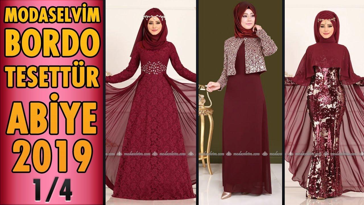 5a480d28a15e5 #Modaselvim #Bordo #Tesettür Abiye #Elbise Modelleri 2019 - 1/4 | #Hijab  Evening Dress | claret red