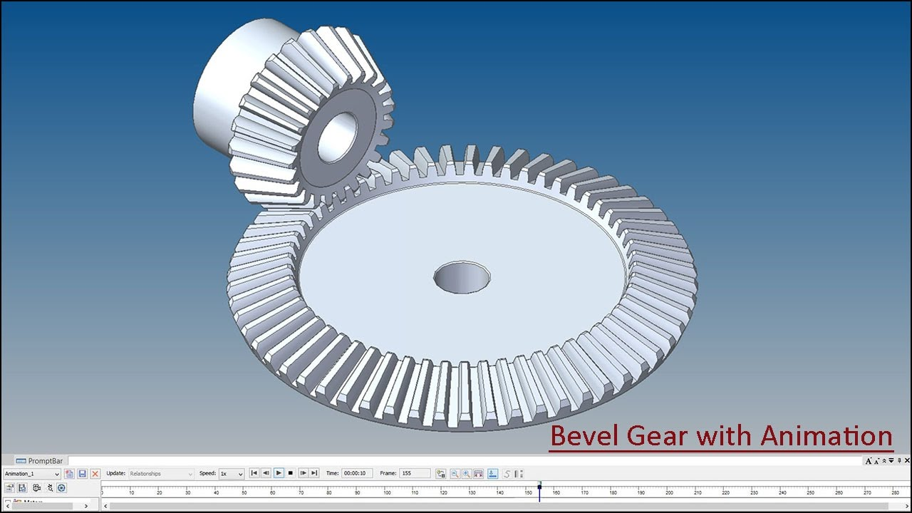 Bevel Gear Animation : Bevel gear with animation solid edge tutorial youtube