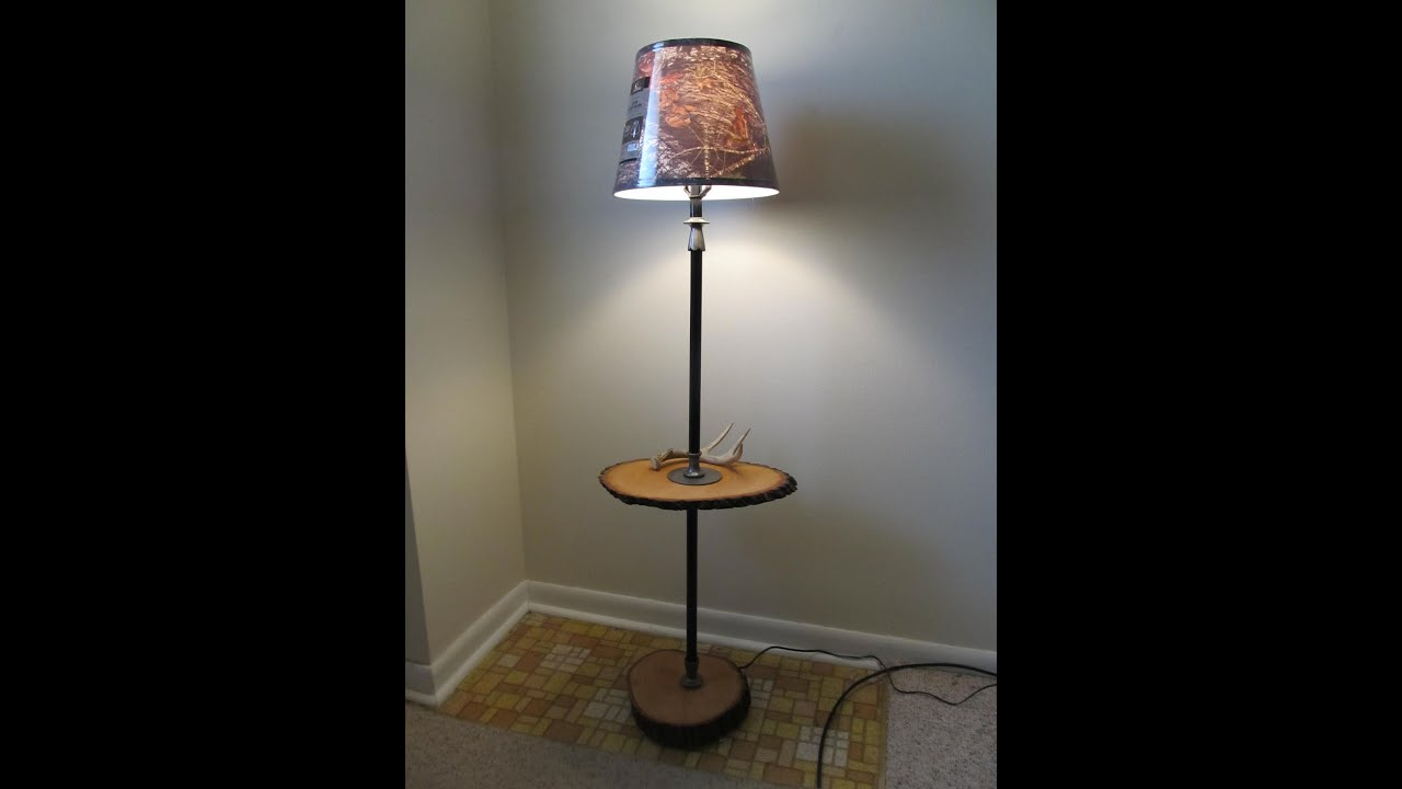 DIY - upcycle an old rusty standing lamp - YouTube