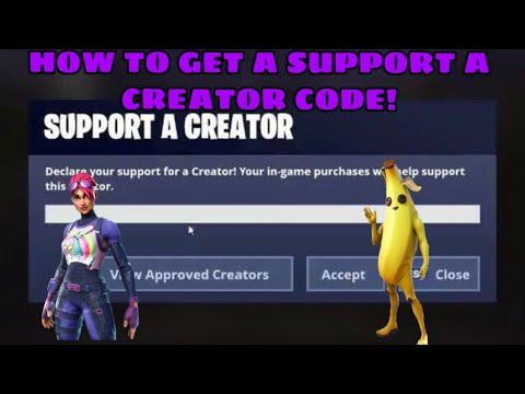 HOW TO GET FORTNITE SUPPORT A CREATOR CODE FAST AND EASY! (FORTNITE SUPPORT A CREATOR CODE TUTORIAL)