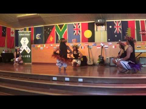 Airds High Flag Ceremony - Eaglevale Girls Cook Island Item
