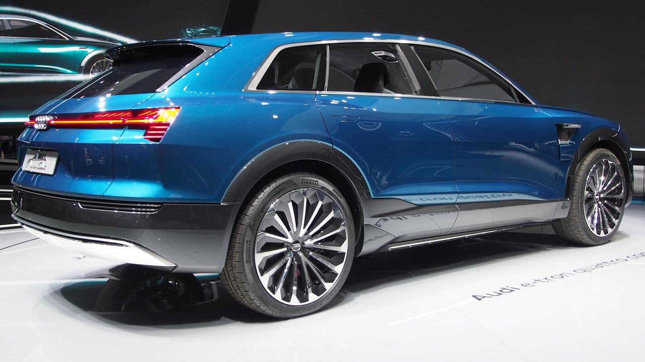 Audi Q6 E Tron Electric Car Quattro Concept Exterior Walkaround