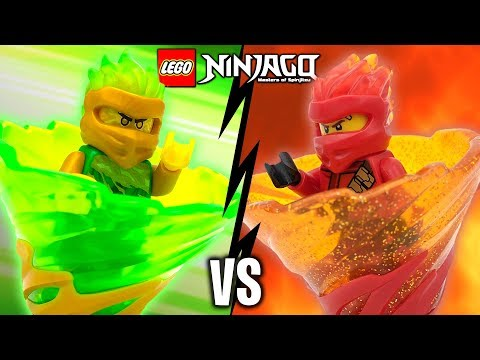 LLOYD Vs KAI LEGO Ninjago Spinjitzu Slam Battle & Spinner Sets Review 70681 70674