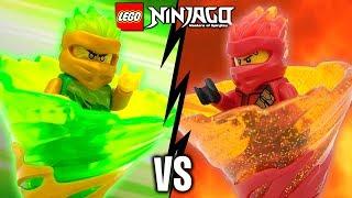 LLOYD Vs KAI LEGO Ninjago Spinjitzu Slam Battle & Spinner Sets Review 70681 70674