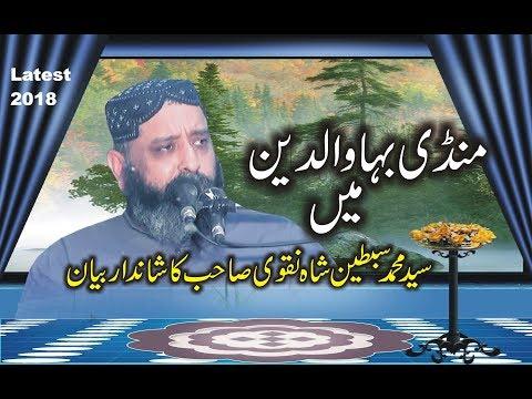 syed sibtain shah naqvi 2018  Latest speach Must Watch || yazdani Cd ||