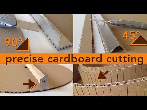 DIY precise cardboard cutting