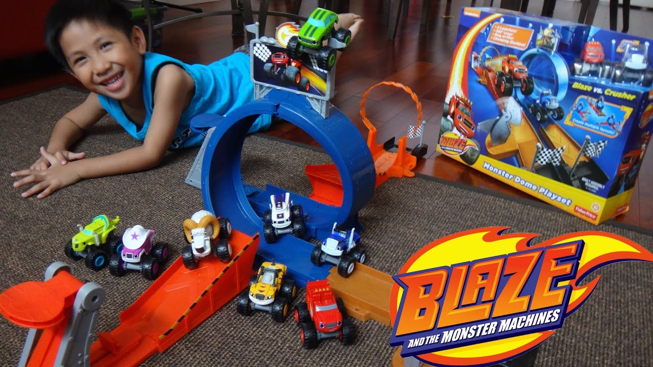 Blaze and the Monster Machines Monster Dome Games - YouTube