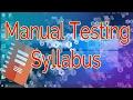 Manual Testing Syllabus