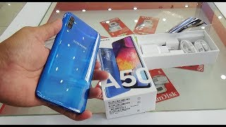 Unboxing Samsung Galaxy A50 blue color