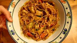Creamy Pesto Chicken and Vegetable Pasta Recipe
