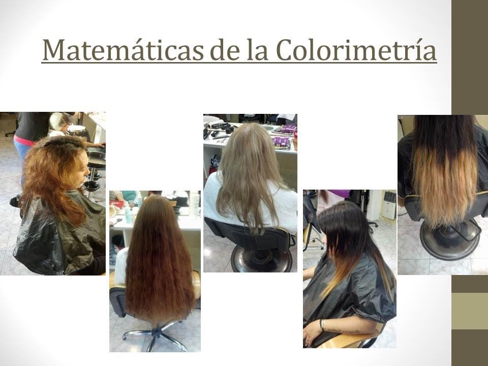 Colorimetria de tintes para el cabello