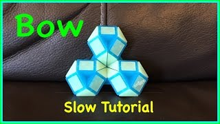 Smiggle Snake Puzzle or Rubik's Twist Tutorial: How To Make a Bow or Flower SLOW Step by Step