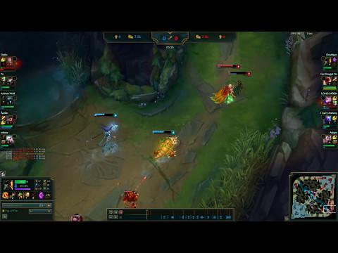 Using fog of war to gank as Lee Sin