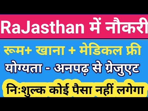 Jobs in Rajasthan ( Jaipur bikaner Jodhpur kota udaipur) Job Profile√