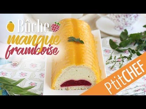 recette-de-bûche-exotique-mangue-et-framboise---ptitchef.com