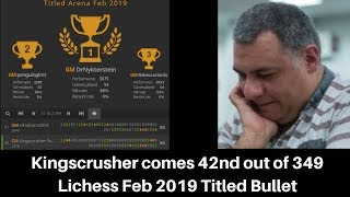 Every opponent titled   Kingscrusher premoves brilliantly to rank within top 50   Lichess 2019