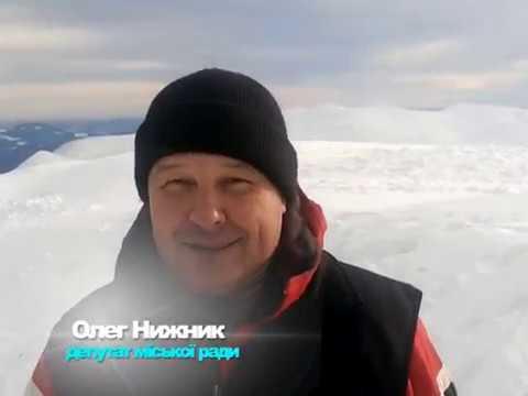 Олег Нижник. Вітання з 2018-им роком на вершині гори Говерла(2061м)
