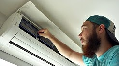 HOW TO CLEAN AIR CONDITIONER FILTERS!