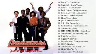 Best Song Of The Commodores - The Commodores Greatest Hist Full Album 2021