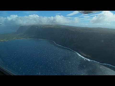 Turbulent Takeoff And Landing From Maui To Molokai (50+ MPH Gusts)