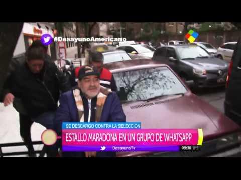 Polémico audio de Maradona: Nosotros no jugamos con Chile, le ganamos a Alemania