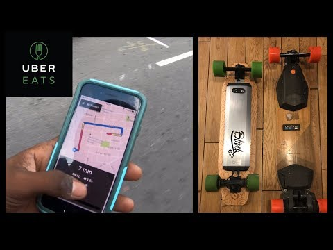 UberEats deliveries on a electric skateboard in San Francisco!