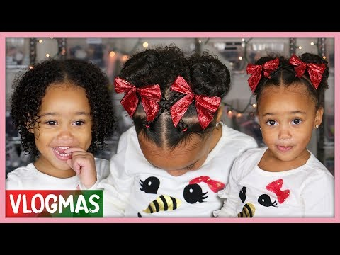 Ziya's Holiday Hairstyle! Curly Hair Routine for Toddlers | Vlogmas Ep. 7 thumbnail
