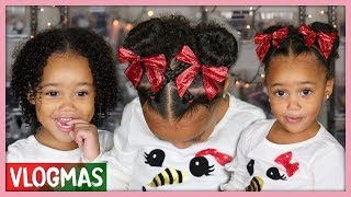 Ziya's Holiday Hairstyle! Curly Hair Routine for Toddlers | Vlogmas Ep. 7
