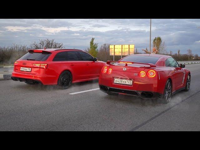ЧТО БЫЛО ДАЛЬШЕ??  AUDI RS6 750л.с. vs NISSAN GTR 700л.с.