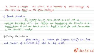 TRADING AND SETTLEMENT PROCEDURE ON STOCK EXCHANGE