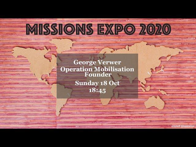 George Verwer - Founder of Operation Mobilisation