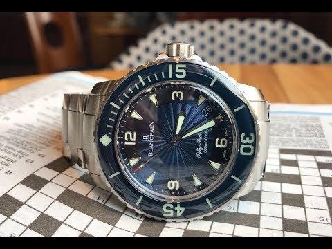 Blancpain Aqua Lung Stainless Steel Grande Date Ref# 2850b-1130a .