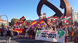 Concentración contra la monarquía en Bilbao