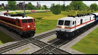 Two trains crossing each other at India's Famous Diamond Crossing | Indian Railways