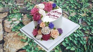 Bánh Sinh Nhật Trang Trí Hoa Xinh Xắn - Decorate Beautiful Flower Cake