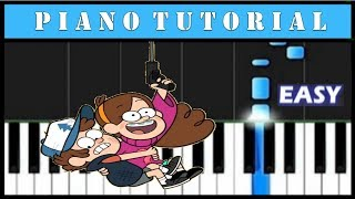 Gravity Falls (Opening) / Piano Tutorial / Notas Sencillas / Cover (Synthesia)