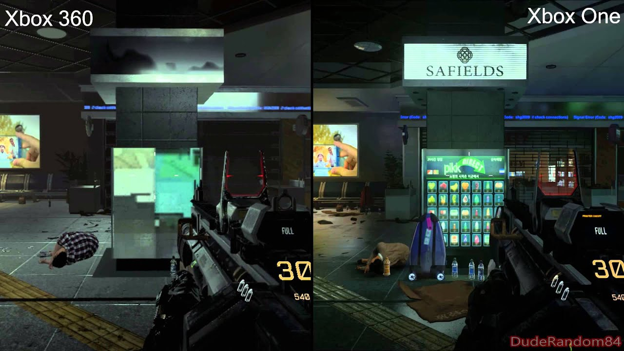 Call Of Duty Advanced Warfare Xbox 360 Vs Xbox One ...