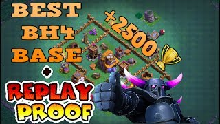 BUILDER HALL 4 (BH4) BEST BASE WITH REPLAY PROOF | ANTI 1 STAR | CLASH OF CLANS