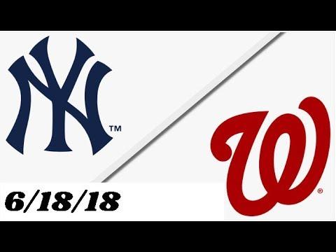 New York Yankees vs Washington Nationals | Full Game Highlights | 6/18/18