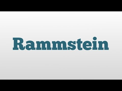 Rammstein meaning and pronunciation