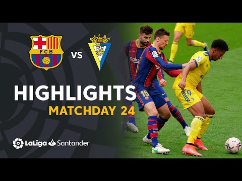 Barcelona Cadiz Goals And Highlights
