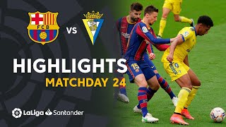 Highlights FC Barcelona vs Cádiz CF (1-1)