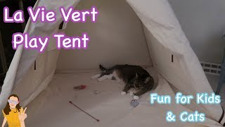 Lavievert Play Tent! Fun for Kids & Cats | Kelli Maple