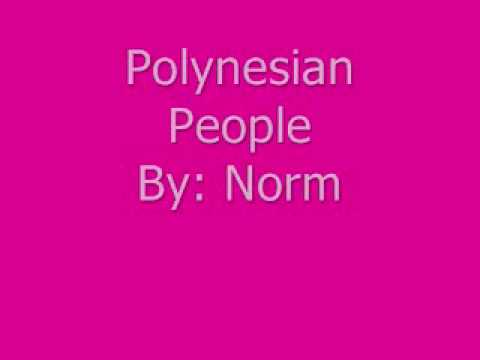 polynesian people By- Norm